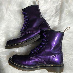 Dr. Martens Vegan Purple Boots